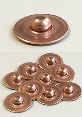 Set of 40 Type:6R Raw Copper Rivet